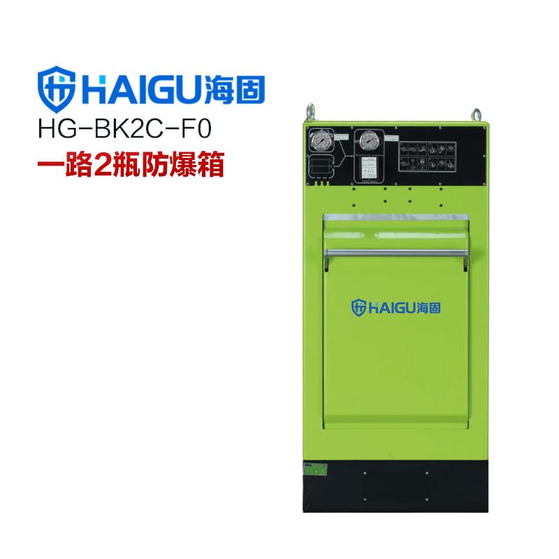 新品 海固HG-BK2C-F0一路2瓶防爆箱 空气呼吸器充气防护装置